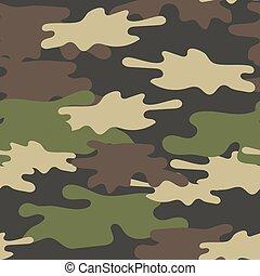barna, ismétel, hadsereg, pattern., seamless, álcáz, háttér., befest, zöld, struktúra, olajbogyó, hadi, erdő