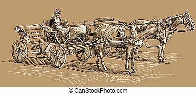 barna ló, carriage2