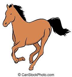 barna ló
