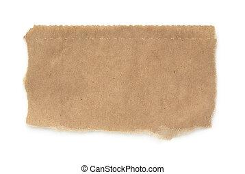 barna papír, elszakadt