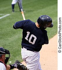 baseball ütőjátékos, hinta, right-handed