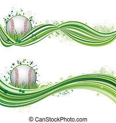 baseball, sport, tervezés elem