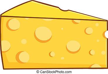 beékel, karikatúra, sárga, sajt