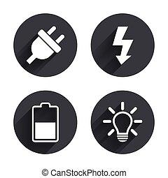 bedugaszol, elektromos, elem, fény, cégtábla., lámpa, half.