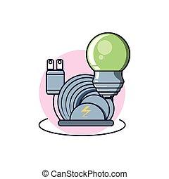 bedugaszol, fény, energia, elektromos, gumó