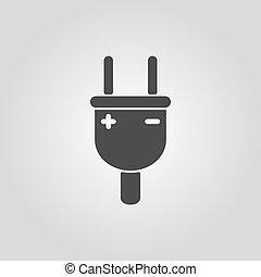bedugaszol, lakás, icon., elektromos, jelkép.
