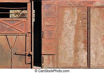 befedett, ingóságok, ajtó, csúszó, tehervagon