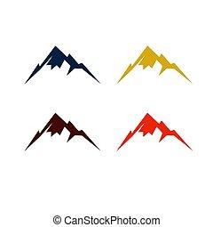 befest, különféle, hegyek, színes, tervezés