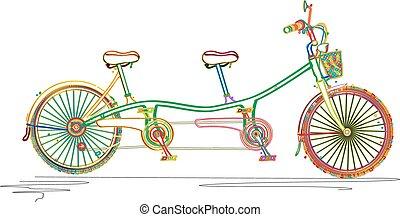 befest, tandem bicikli
