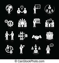 befog, állhatatos, gyűlés, ügy icons
