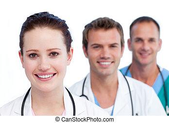 befog, mosolygós, bemutatás, orvosi