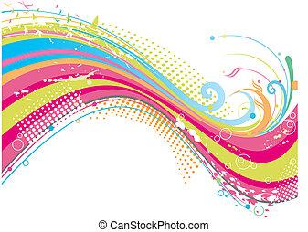 beijedt, színes, háttér