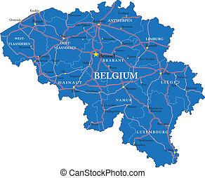 belgium, térkép