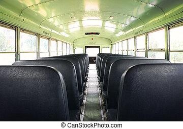 belső, autóbusz, izbogis, öreg