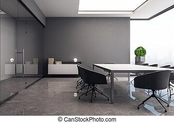 belső, beton, ülésterem, kreatív