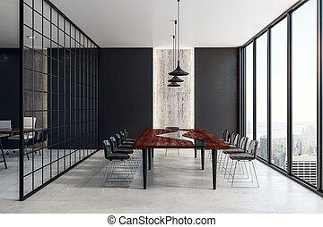 belső, beton, ülésterem