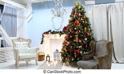 belső, fa, karácsony