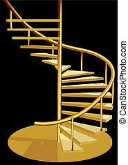 belső, lépcsősor