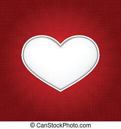 belső, szív alakzat, shadows, háttér, sötét, piros, tectured, fehér