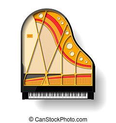 belső, zongora, nagy