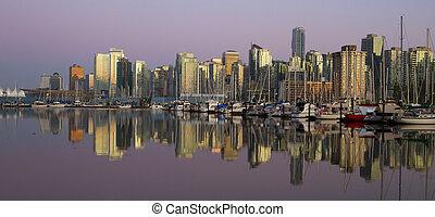 belvárosi, este, kanada, vancouver, időszámításunk előtt