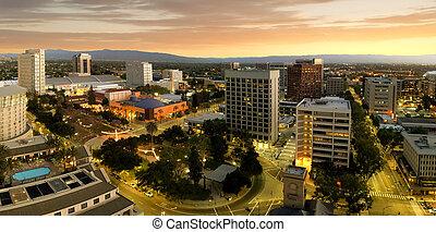 belvárosi, jose, kalifornia, szanatórium, panoráma