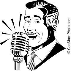 bemondó, mikrofon, rádió