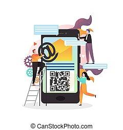 bennünket, háló, website, vektor, érintkezés, oldal, fogalom, transzparens