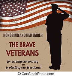 bennünket, katona, amerikai, hadsereg, tiszteleg, lobogó