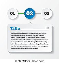 berakodás, paper., három, lépések, infographics, tervezés