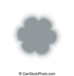 berendezés, áttetsző, virág, árnyék, fehér, rügy