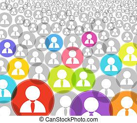 beszámoló, tolong, ikonok, média, elvont, társadalmi