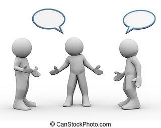 beszéd, 3, emberek