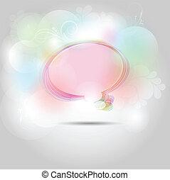 beszéd, elvont, buborék, háttér