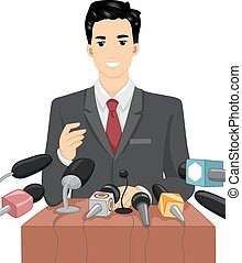 beszéd, politikus, mics, ember