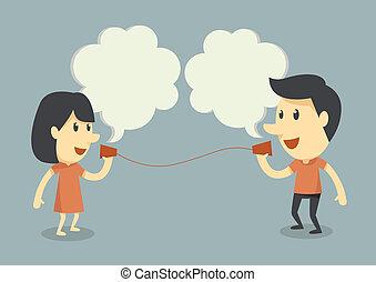 beszéd, telefon, csésze