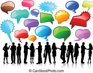 beszélgetés, ügy