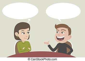 beszélgetés