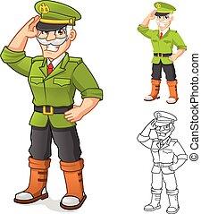 betű, karikatúra, általános, hadsereg