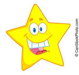 betű, karikatúra, kabala, csillag