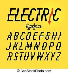 betűkép, elektromos, mód