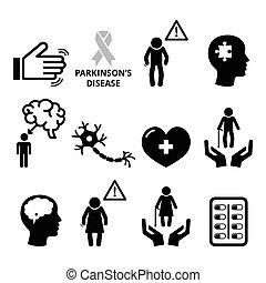 betegség, healt, senior's, parkinson's