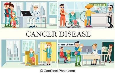 betegség, zenemű, gyermekkor, rák