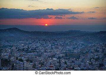 betlehem, izrael, napkelte, palesztina