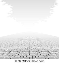 beton, útburkolat, tömb