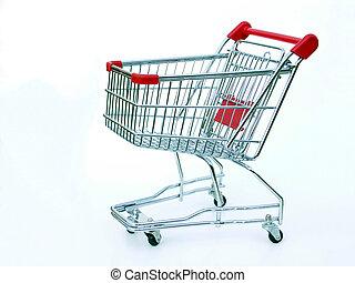 bevásárlás, üres, kordé