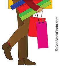 bevásárlás, ember