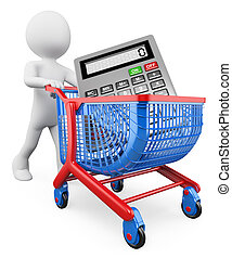bevásárlás, emberek., értékesítések, fehér, concept., 3