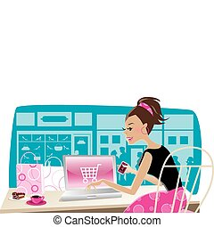 bevásárlás, internet