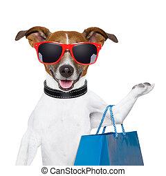bevásárlás, kutya